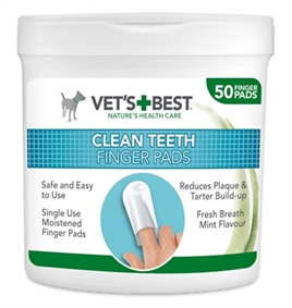 Vets Best Clean Teeth Finger Pads 50 st