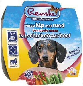 Renske Vers Vlees Maaltijd 8 x 100 Gram Kip & Rund