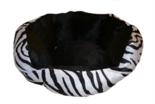 Mand-Velvet-Look-Zebra-38x36x18-Cm